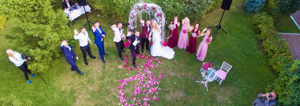 Аэросъемка свадьбы